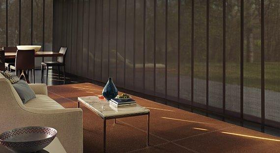 Hunter Douglas Skyline® Gliding Window Panels near Fredericksburg, Virginia (VA) vertical blinds, patio door blinds