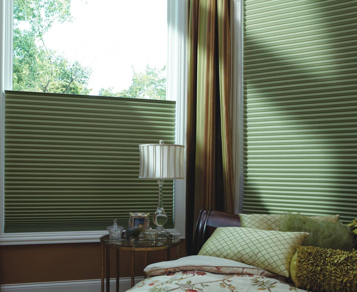 Custom Bedroom Window Treatments for Homes near Lake Ridge, Virginia (VA) including Honeycomb Shades