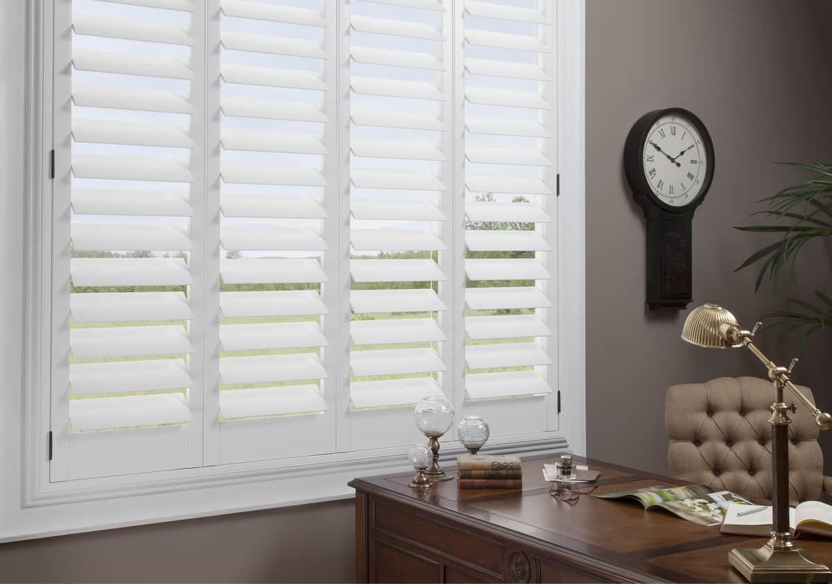 Custom window treatments for updating homes near Fredericksburg, Virginia (VA) including Hunter Douglas shutters