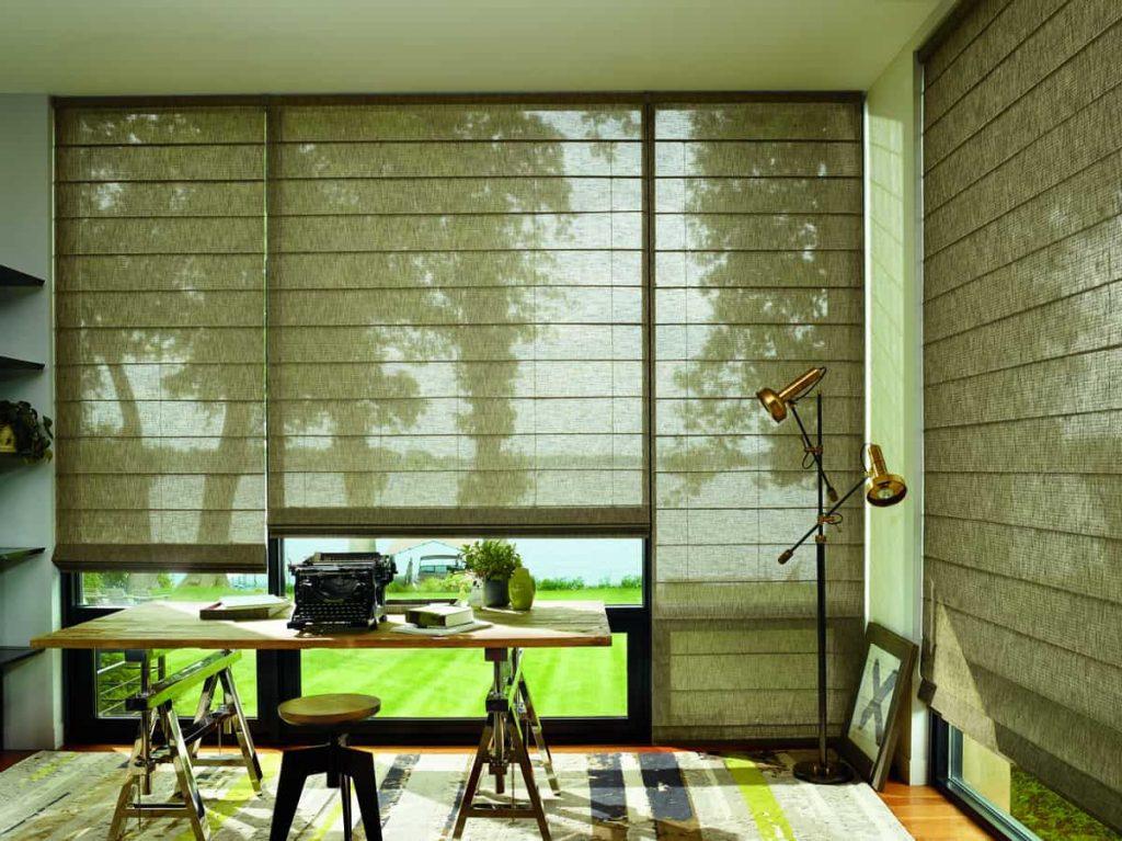 Hunter Douglas Alustra® Woven Textures® Shades near Fredericksburg, Virginia (VA) Bamboo Shades Woven Shades Woven Blinds